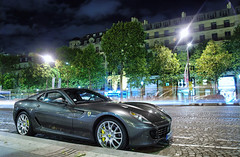 Ferrari 599 GTB Fiorano (__martin__) Tags: street paris cars night grey nikon automobile martin champs elyses automotive ferrari 1750 autos tamron spotting exotics gtb supercars carspotting 599 cavallino fiorano d80 worldcars carsightings nightspotting