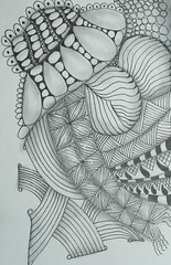 Overpass (thisorthatandmore) Tags: tangle zentangle