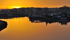 Sawley Marina - Early Morning (Rodney Wetton) Tags: sun reflection marina sunrise river boats canal derbyshire radcliffe powerstation barges sawley sawleymarina rivertrent sillohette erewashcanal radcliffepowerstation rodneywetton