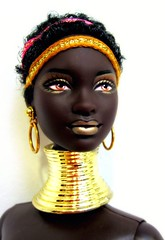 Princessface (Blythemaniaco) Tags: world africa face fashion del de outfit doll dolls princess south moda barbie mold princesa blac ethnic edition negra mundo mattel picnik collector edicin muecas mueca coleccionista sudfrica mbili