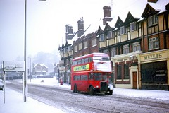 B1.  RT at Court Parade. January,1962. (Ron Fisher) Tags: trolleybus londontransport