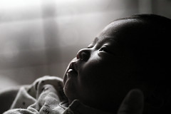 [Free Image] People, Children, Babys, Black and White, 201103230700