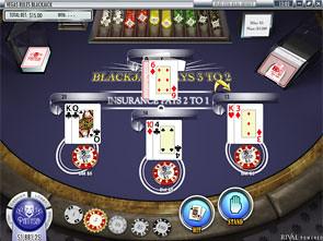 Vegas Rules Multi Hand Blackjack