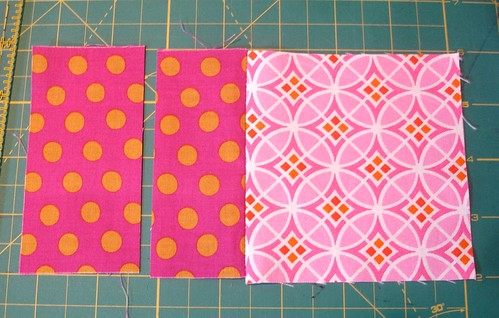 Altered Four Square Quilt Block Tutorial: Cutting the Middle Pair