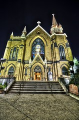 St. Mary on the Mount in HDR (Dave DiCello) Tags: longexposure church skyline photoshop nikon pittsburgh tripod lighttrails bluehour nikkor hdr highdynamicrange cs4 photomatix tonemapped grandviewave cs5 d700 coloreffex stmaryonthemount davedicello hdrefex hdrexposed
