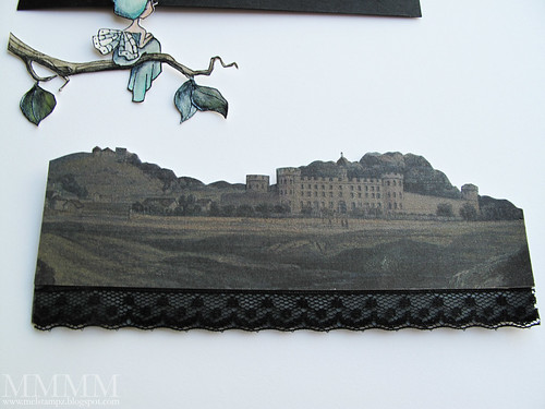 printed the castle landscape from the Graphics Fairy Darkened