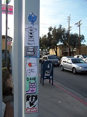 Flagpole (Question Josh? - SB/DSK) Tags: streetart dave sticker stickers josh melrose hollywood question fairfax luigi art1 ikari subhumanoid catv subhuman questionjosh ceito