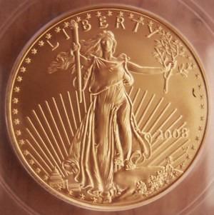 American Gold Eagle 2008-W G-25.