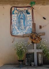 Guadalupe Shrine Oaxaca (Ilhuicamina) Tags: flowers flores mexico crosses altar cruz oaxaca guadalupe shrines virgen santaluciaocotlan