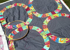 Quilting-Single Girl (Baby Sized) (so happy!) Tags: gardenparty singlegirlquilt