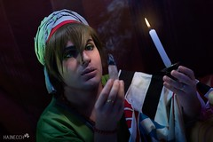 10 (haine.otomiya) Tags: cosplay free makoto arabian arabic candle breathing smoke anime manga night light tent