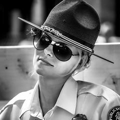 Cute Officer (Jim-Mooney) Tags: bw black white blackwhite blackandwhite mono monochrome monotone streetphotography portrait people kansascity candid fuji xt1 fujinon 50140mm