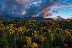 After Dark (Amy Hudechek Photography) Tags: sanjuanmountains colorado sunset autumn fall aspens trees uncompahgre national forest nature amyhudechek