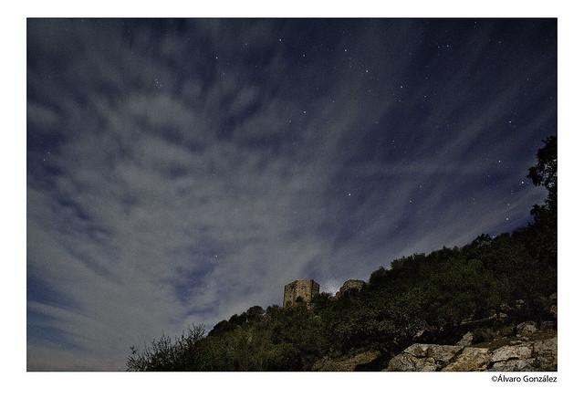 Fotografía nocturna de Monfragüe