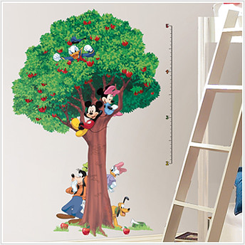 mickey growth chart kids decals