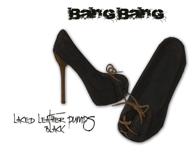 Bang Bang - Laced leather pumps - black