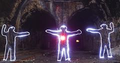 The 3 Ghosts (Mondino1980) Tags: blue light shadow red 3 vortex man flower men london wool wheel train fire jump wire rust track ghost orb 8 tunnel led wise raymond lay armed connaught mondino murphyz