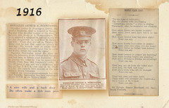 WW1 Rouen 25/07/1916 : Arthur Pennington died aged 19 (MomentsBeingMe) Tags: france english history photoshop manchester soldier death newspaper rouen british oldham ww1 1wk wardead thegreatwar newspapercuttings manchesterregiment warpoetry 1ereguerremondiale oldhampals