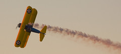 Stearman (airplaneguy38) Tags: sunset boeing usnavy usn stearman pt13 yellowperil usaaf kaydet ns1 boeingmodel75 n2s2