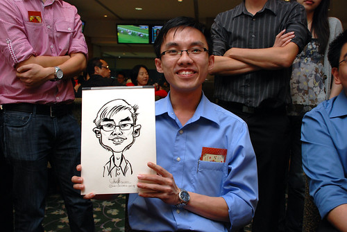 caricature live sketching for Thorn Business Associates Appreciate Night 2011 - 26