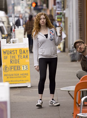 Sweats & Gawker 8319 (eyepiphany) Tags: fashion redhead trends portlandoregon gawker stumptown blackfingernailpolish portlandfashion portlandcasual portlandcazl nikeswithoutsocks roxyveeneckhoodie croppedblackleggings