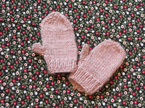 mitones cashmere rosa palo