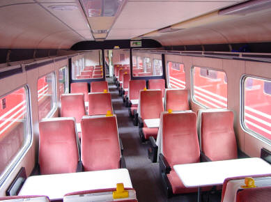 Charter train - Standard Class Carriage, interior (UK)