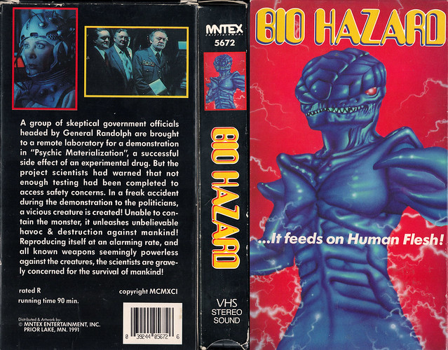 Bio Hazard (VHS Box Art)