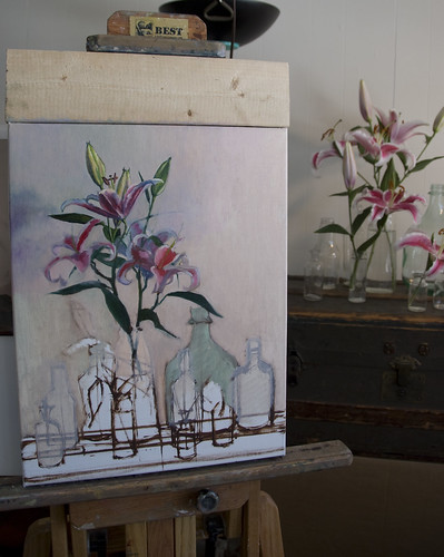 WIP lilies ptg