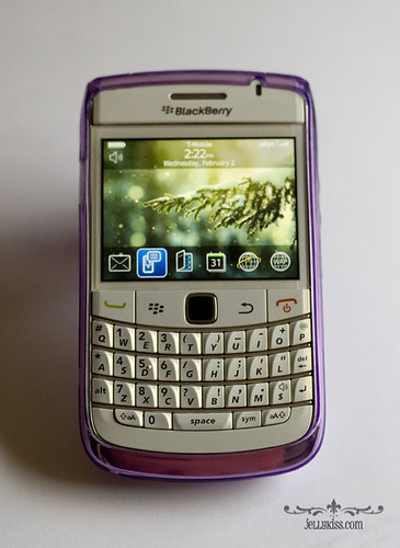My Blackberry 9700 w/new purple cover