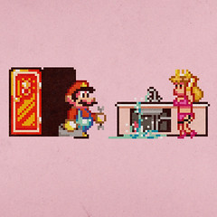 Did Somebody Call A Plumber? (aledlewis) Tags: art mushroom fix princess peach kingdom retro mari porn pixel 70s 8bit plumber leak supermario2