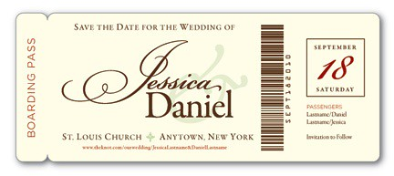 Boarding Pass Save The Dates Decor Adventures