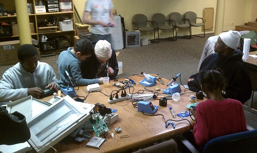 Wreck Lab - Detroit, MI - Students taking apart stuff