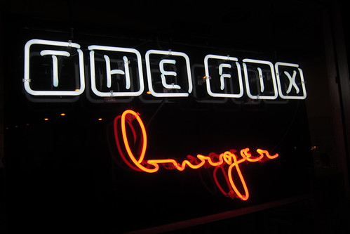 The Fix Burger: Neon Sign