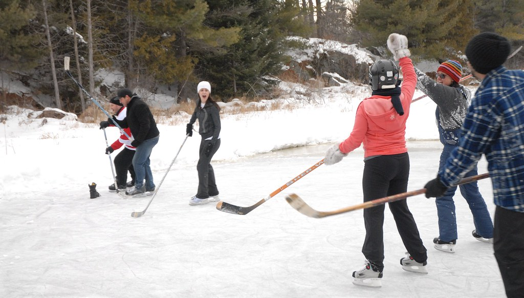 Outdoor hockey game