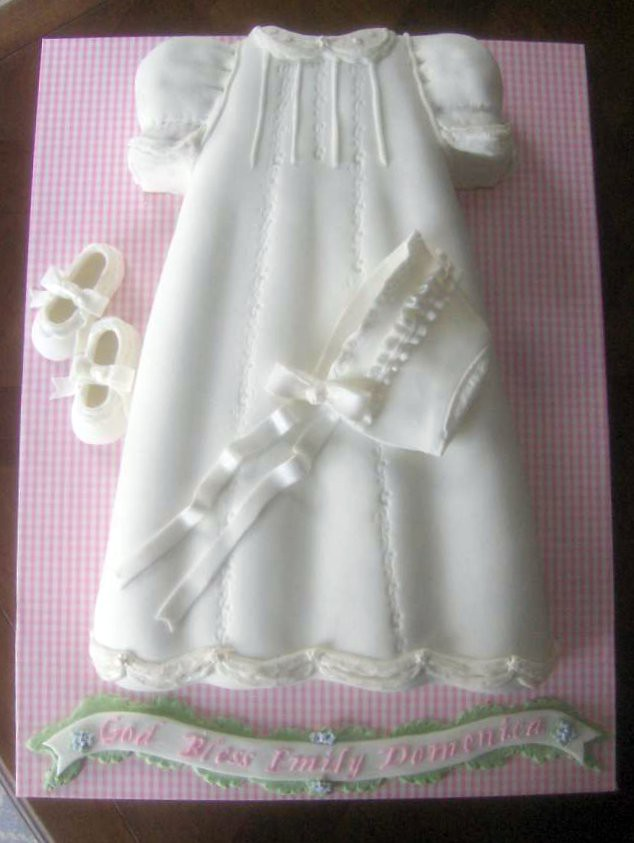 Christening Dress Cake for Baby Girl