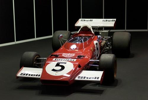 L9771091 Motor Show Festival. Ferrari 312B2, Jackie Ickx, Mario Andretti, Clay Regazzoni (1971)