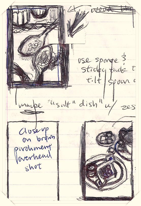 Sketches for Pomegranate Jelly Cheese Danish Photos