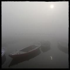 Stuff as Dreams (designldg) Tags: morning winter sun india cold reflection water fog mystery river square dawn boat view dream atmosphere silence varanasi shanti kashi timeless ganga ganges ghats benares benaras uttarpradesh भारत indiasong