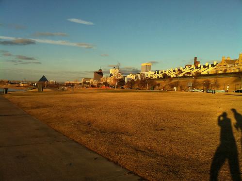 Memphis Skyline on a Rockin' Running Tour