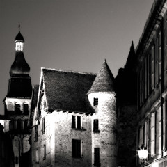 a medieval night (S amo) Tags: old blackandwhite bw france tower night square ancient tour noiretblanc medieval nb steeple nuit sarlat carr clocher perigord aquitaine