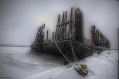 Barge_hdr_ta_1 (paul.vreeland) Tags: winter snow harbor harbour shipping pei barge charlottetown industrialarts charlottetownharbour coloursofcharlottetown