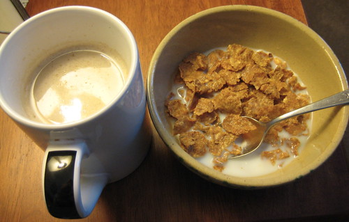 coffee & Special K protein cereal