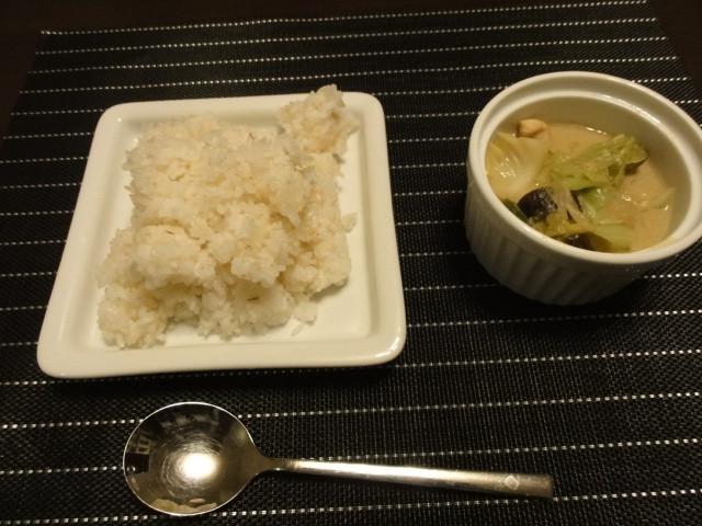 2011年2月5日 夕食(無印のグリーンカレー)