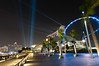 The lights at Marina Bay (***roham***) Tags: light marina hotel singapore ray walk promenade marinabay marinabaysands promenadewalk