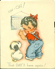 """Oh Oh That Day's Here Again"""" (reinap) Tags: vintagebirthdaycard"""