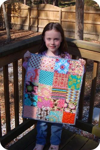 Megan & her mini quilt