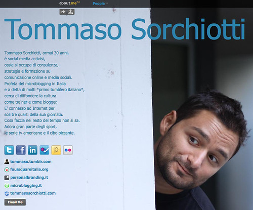 Tommaso Sorchiotti (tommaso) on about.me