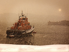 Visibility Zero (North Coast Photographic) Tags: ireland snow beach water photoshop harbour atlantic lifeboat northern ulster portrush antrim causewaycoast canon450d spatialpan williamgordanburr