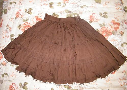 Metamorphose brown skirt